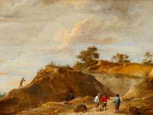 David Teniers Ii Le Jeune - The Sand Quarry