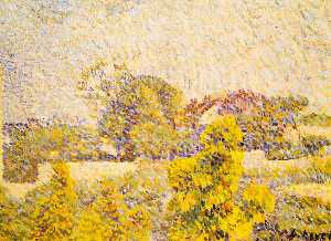 Order Oil Painting : Landscape, 1888 by Louis Hayet (1864-1940) | WahooArt.com