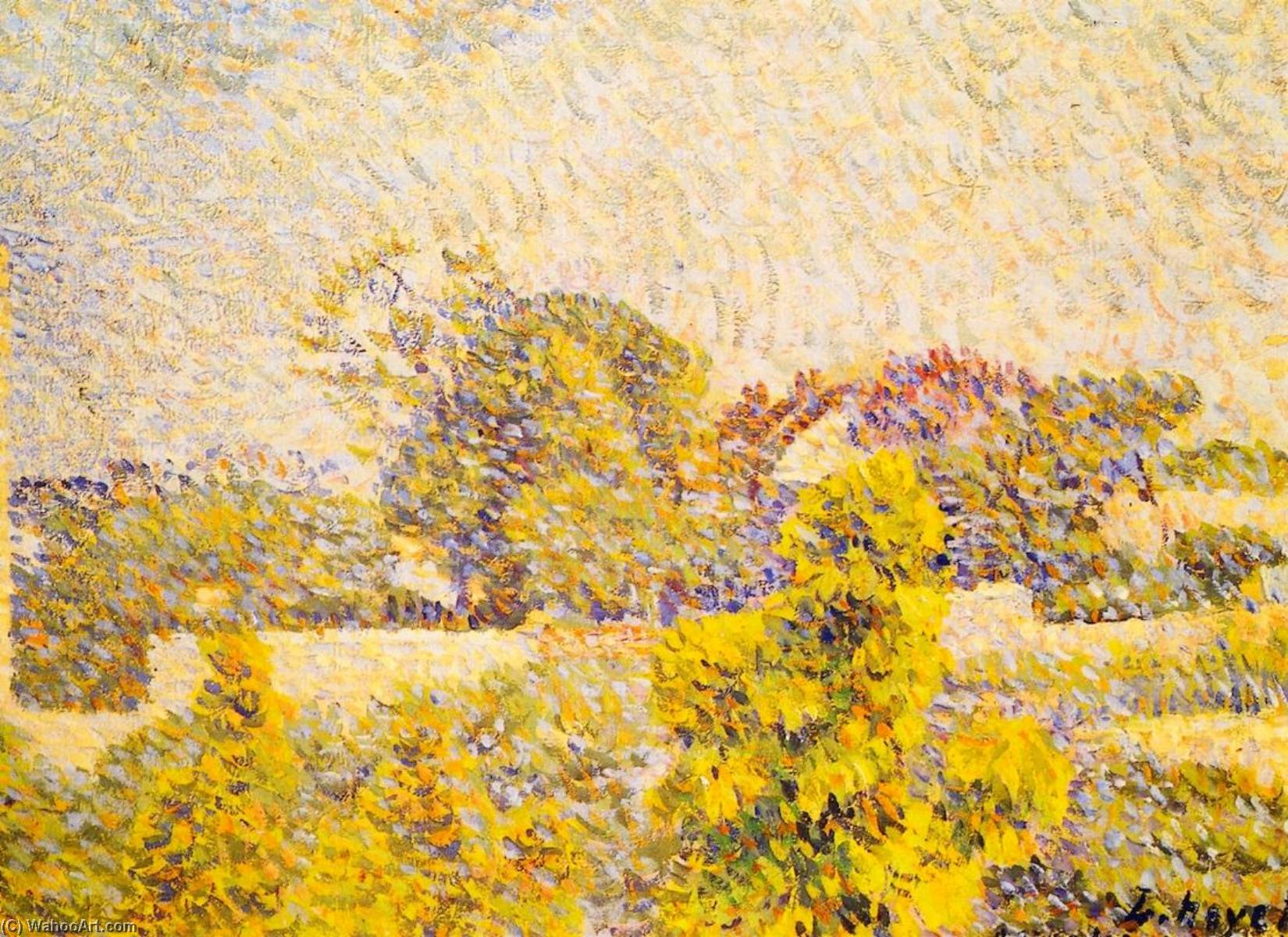 Landscape, 1888 by Louis Hayet (1864-1940) | Oil Painting | WahooArt.com