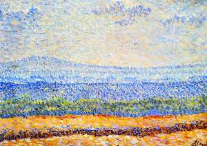 Order Museum Quality Reproductions : Landscape of Vexin, 1888 by Louis Hayet (1864-1940) | WahooArt.com