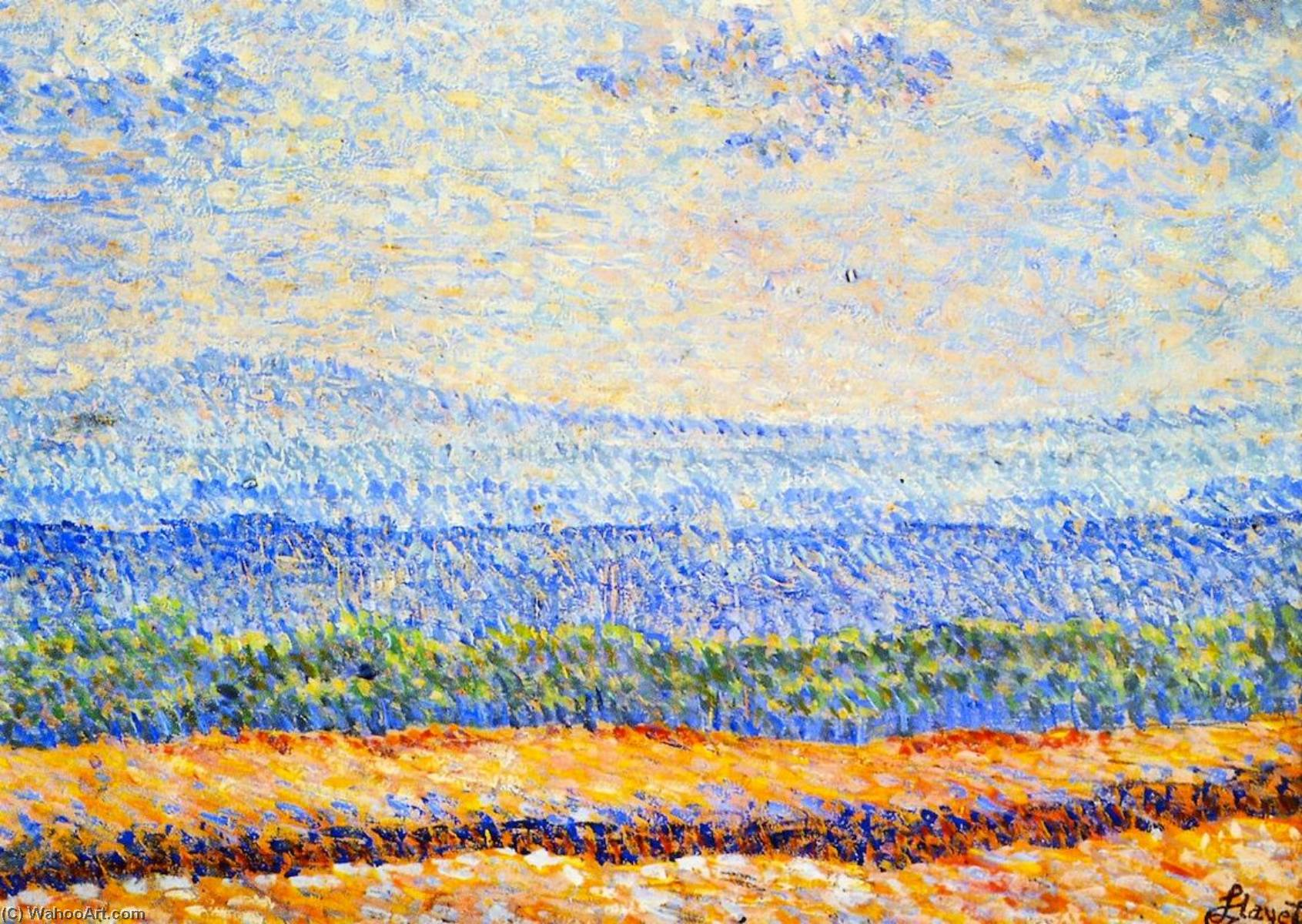 Landscape of Vexin, 1888 by Louis Hayet (1864-1940) | Museum Quality Reproductions | WahooArt.com