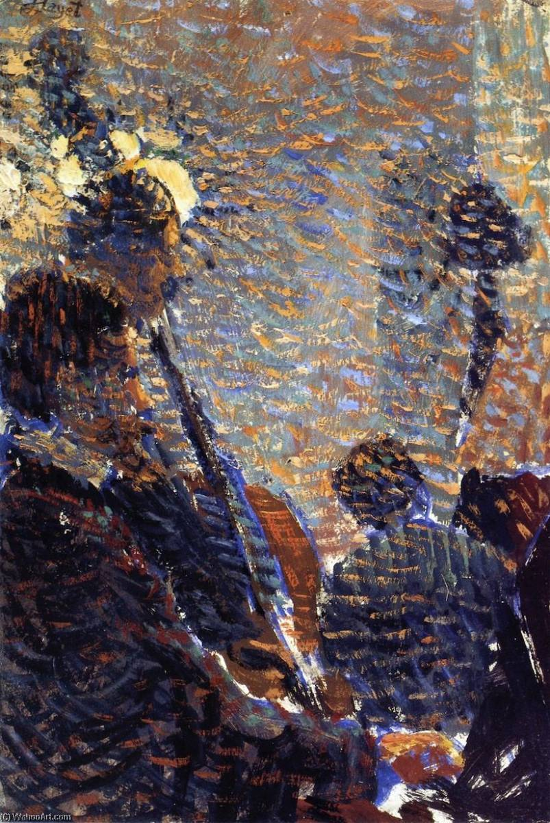 Musicians, 1890 by Louis Hayet (1864-1940) | Art Reproductions Louis Hayet | WahooArt.com