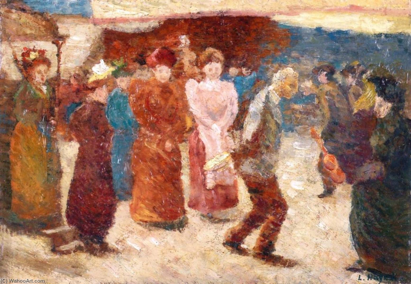 Order Museum Quality Copies | Figures on a Street by Louis Hayet (1864-1940) | WahooArt.com