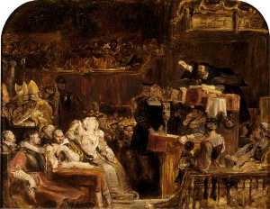 David Wilkie Wynfield - John Knox Preaching before the Lords of the Congregation, 10 June 1559