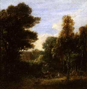 David Wilkie Wynfield - A Woody Landscape