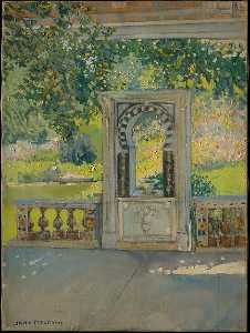 Jane Peterson - Turkish Fountain with Garden (from Louis C. Tiffany Estate, Oyster Bay)