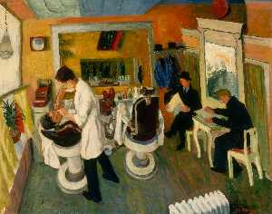 Ilya Bolotowsky - In the Barber Shop