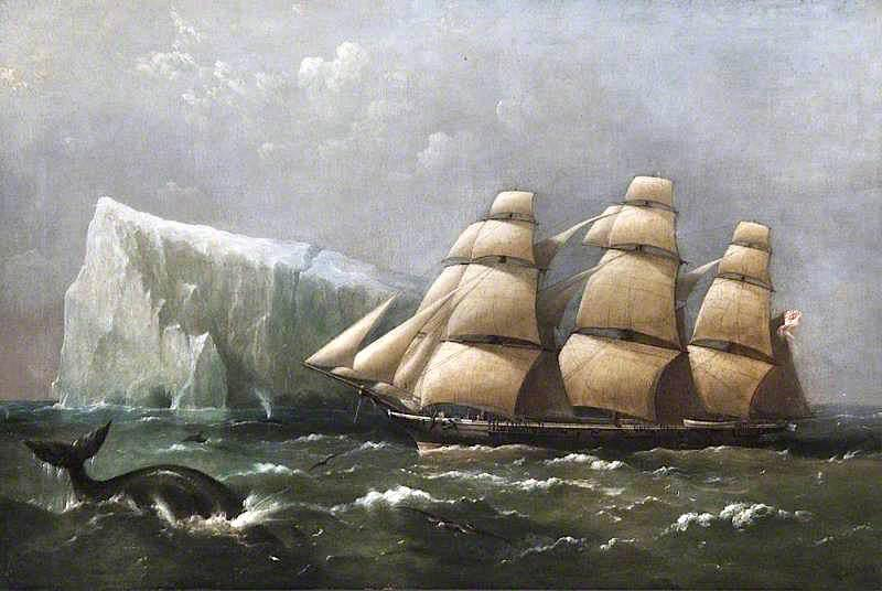 HMS Scout Passing an Iceberg, 4 March 1875, 1880 by Richard Brydges Beechey (1808-1895) | Art Reproductions Richard Brydges Beechey | WahooArt.com