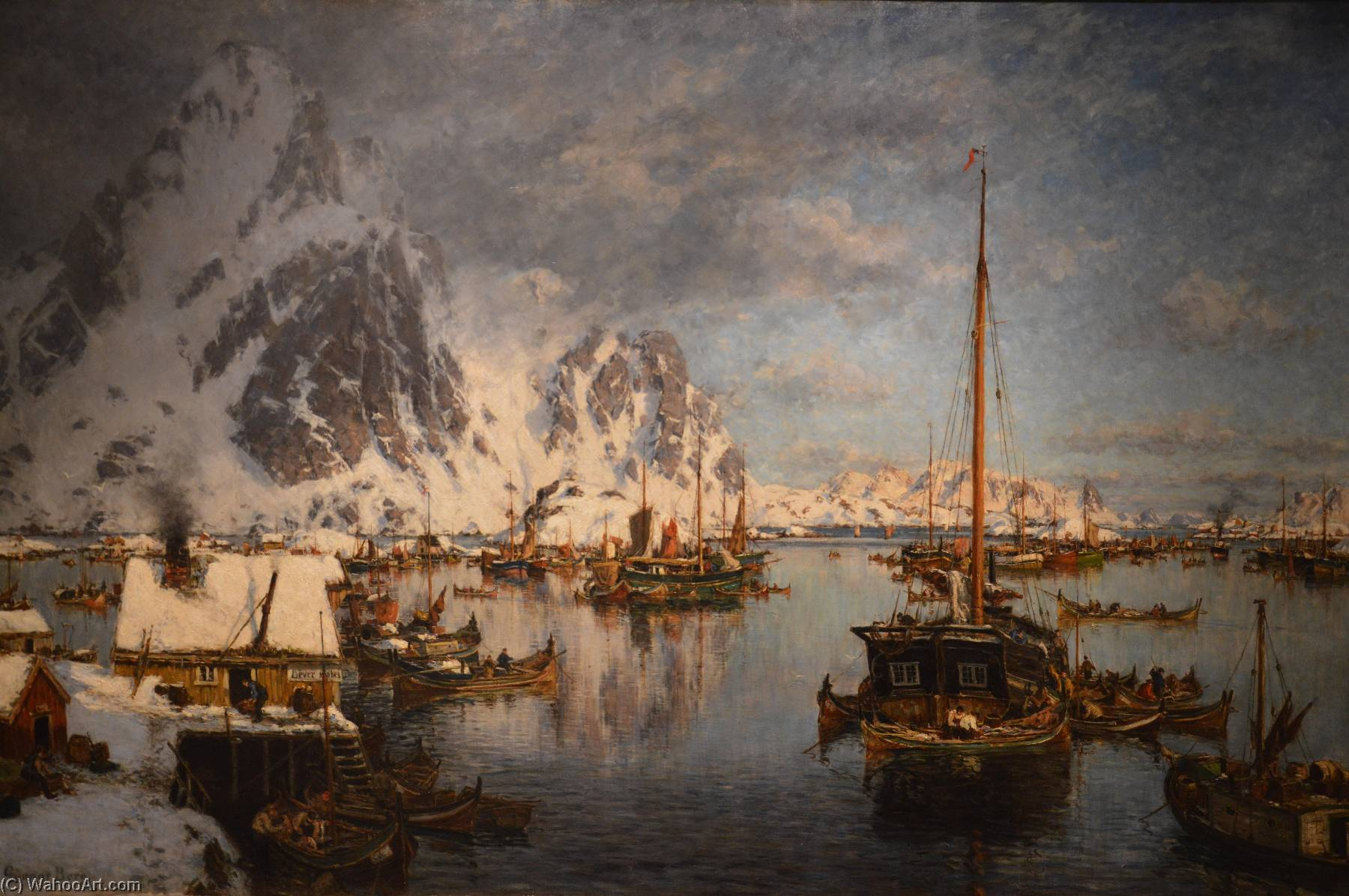 Fra Svolvær, Oil On Canvas by Gunnar Berg