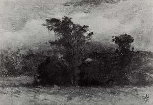 Edward Mitchell Bannister - Landscape, (painting)