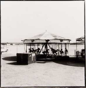 Judy Fiskin - Long Beach Pike (carousel), from the Long Beach, California Documentary Survey Project