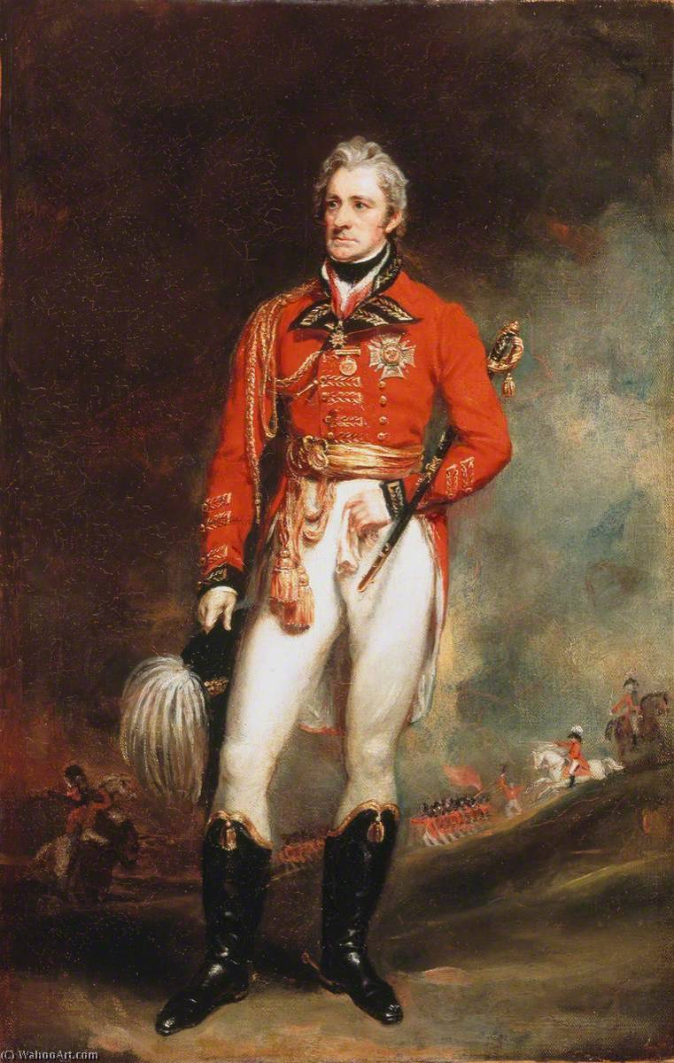 Order Paintings Reproductions | Major General Sir Thomas Munro (1761–1827), KCB, Governor of Madras, in General Officer's Uniform, 1819 by Martin Archer Shee (1769-1850, Ireland) | WahooArt.com