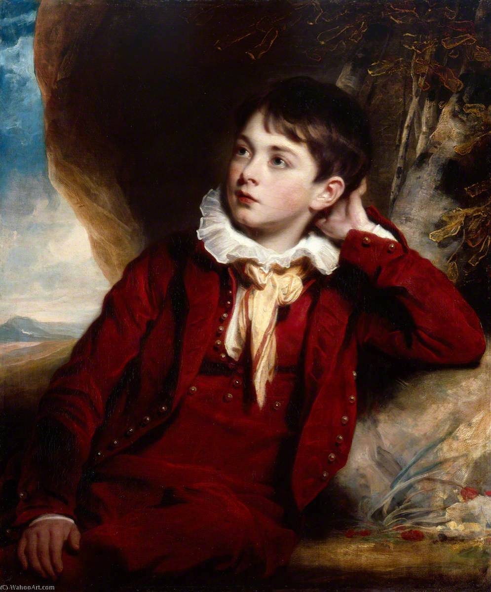 Order Art Reproductions | The Artist`s Son, William, 1820 by Martin Archer Shee (1769-1850, Ireland) | WahooArt.com