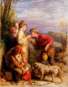 William Mulready The Younger - Giving a Bite