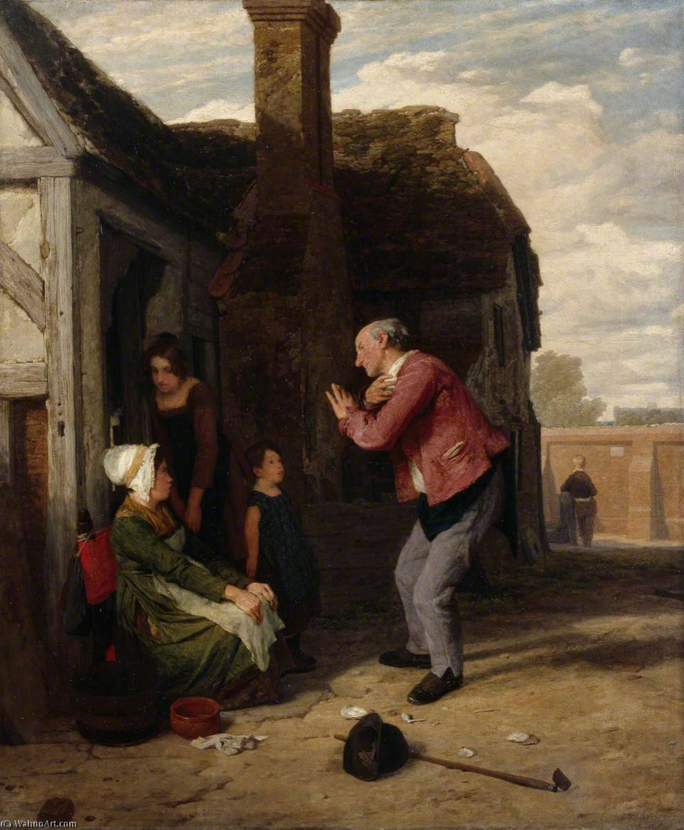 The Village Buffoon, Oil On Canvas by William Mulready The Younger (1786-1863, Ireland)