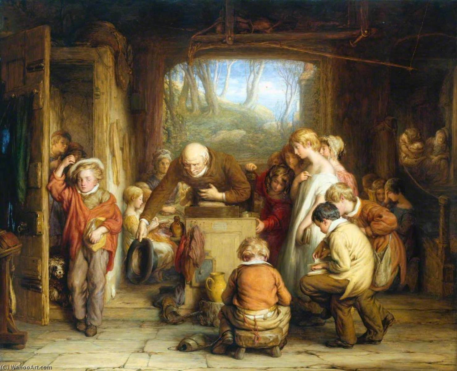 The Last In, Oil by William Mulready The Younger (1786-1863, Ireland)