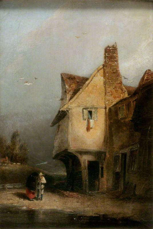 An Old Cottage, St Albans, 1806 by William Mulready The Younger (1786-1863, Ireland) | WahooArt.com