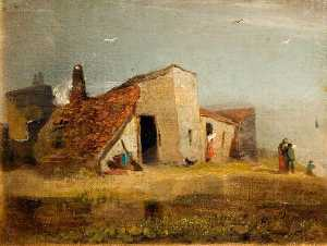 William Mulready The Younger - Cottages on the Coast