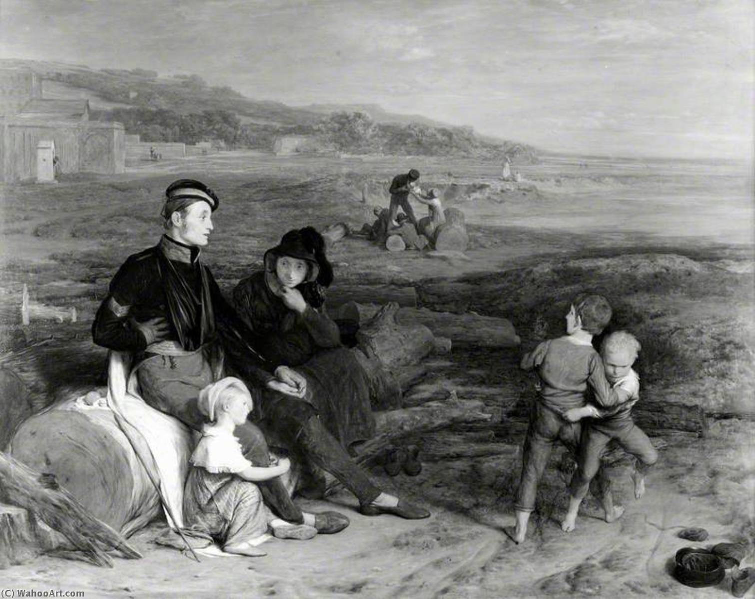 The Convalescent from Waterloo, Oil On Panel by William Mulready The Younger (1786-1863, Ireland)