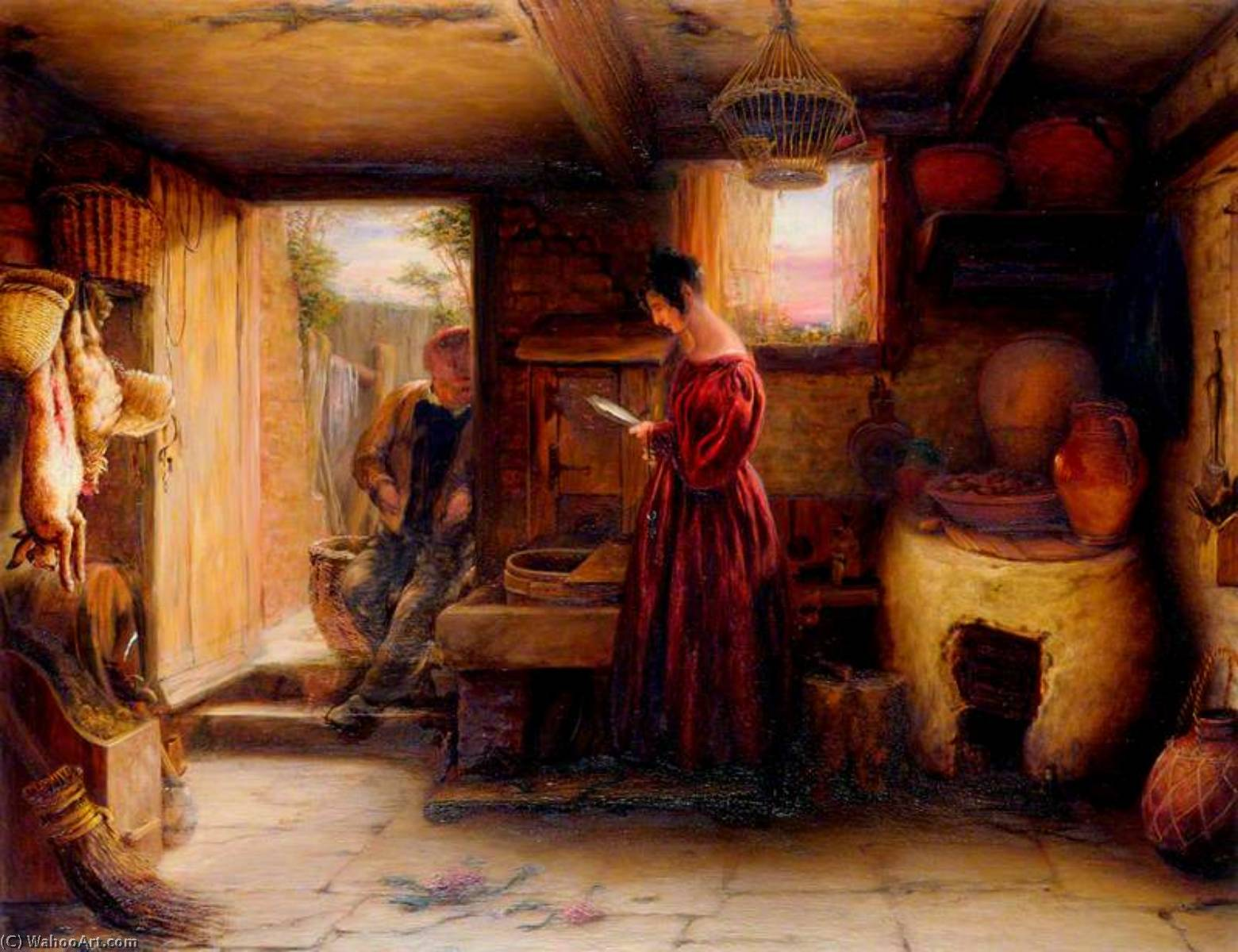 An Interior, 1842 by William Mulready The Younger (1786-1863, Ireland) | WahooArt.com