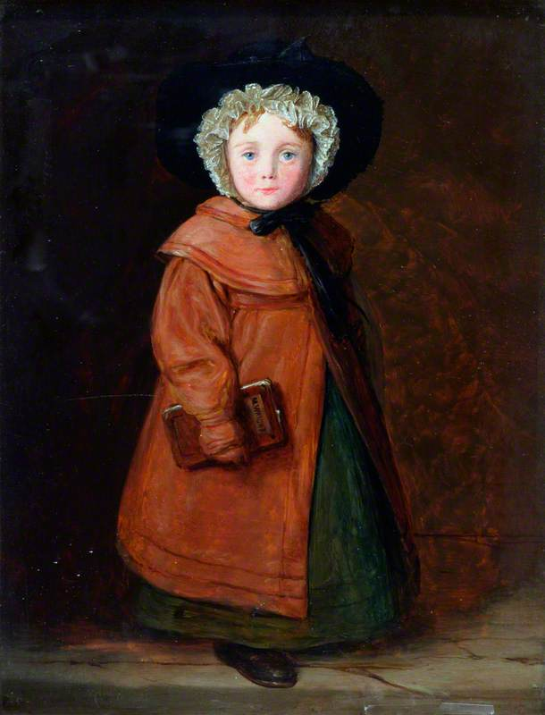 Mary Wright, the Carpenter's Daughter, Oil On Panel by William Mulready The Younger (1786-1863, Ireland)