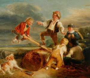 William Mulready The Younger - See Saw