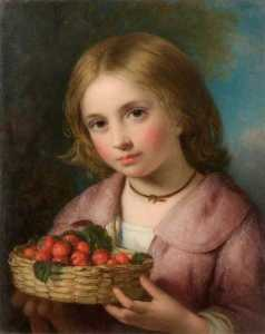 Charles Baxter - Girl with Strawberries