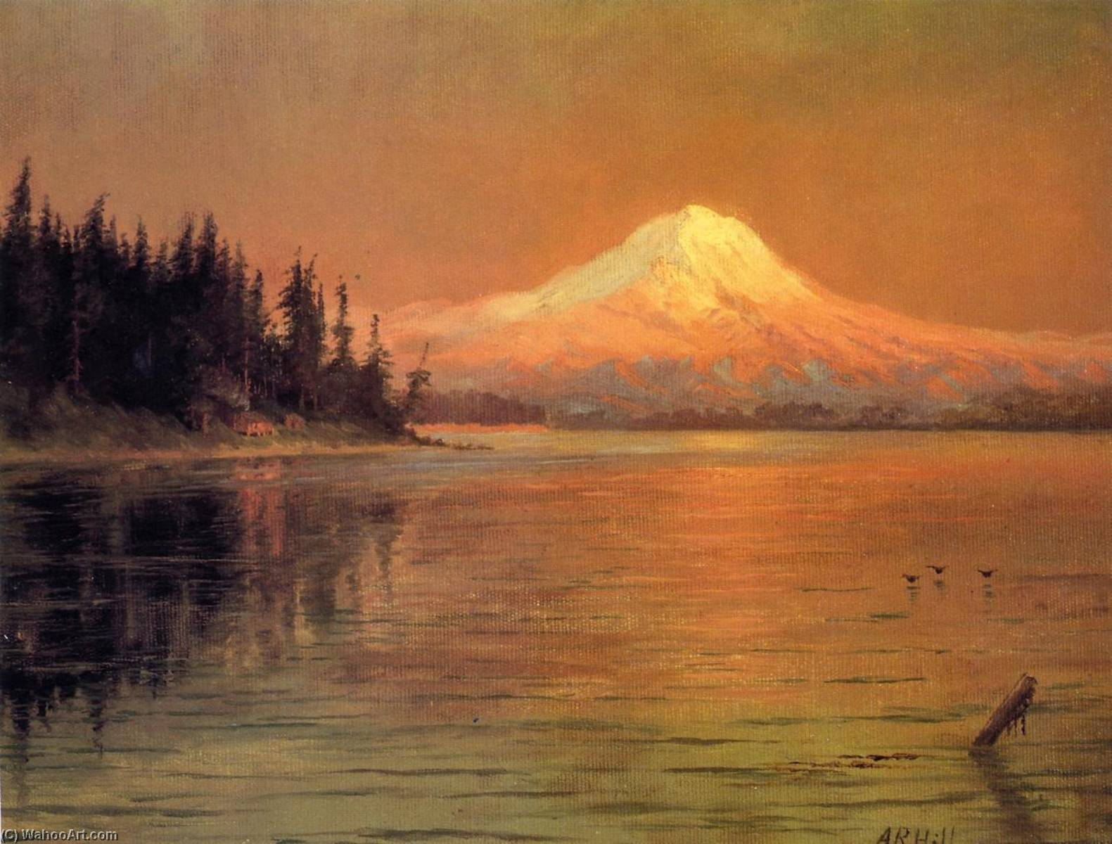 Mr. Rainier from Vashon Island, 1900 by Abbey Williams Hill (1861-1943, United States) | Museum Quality Reproductions | WahooArt.com