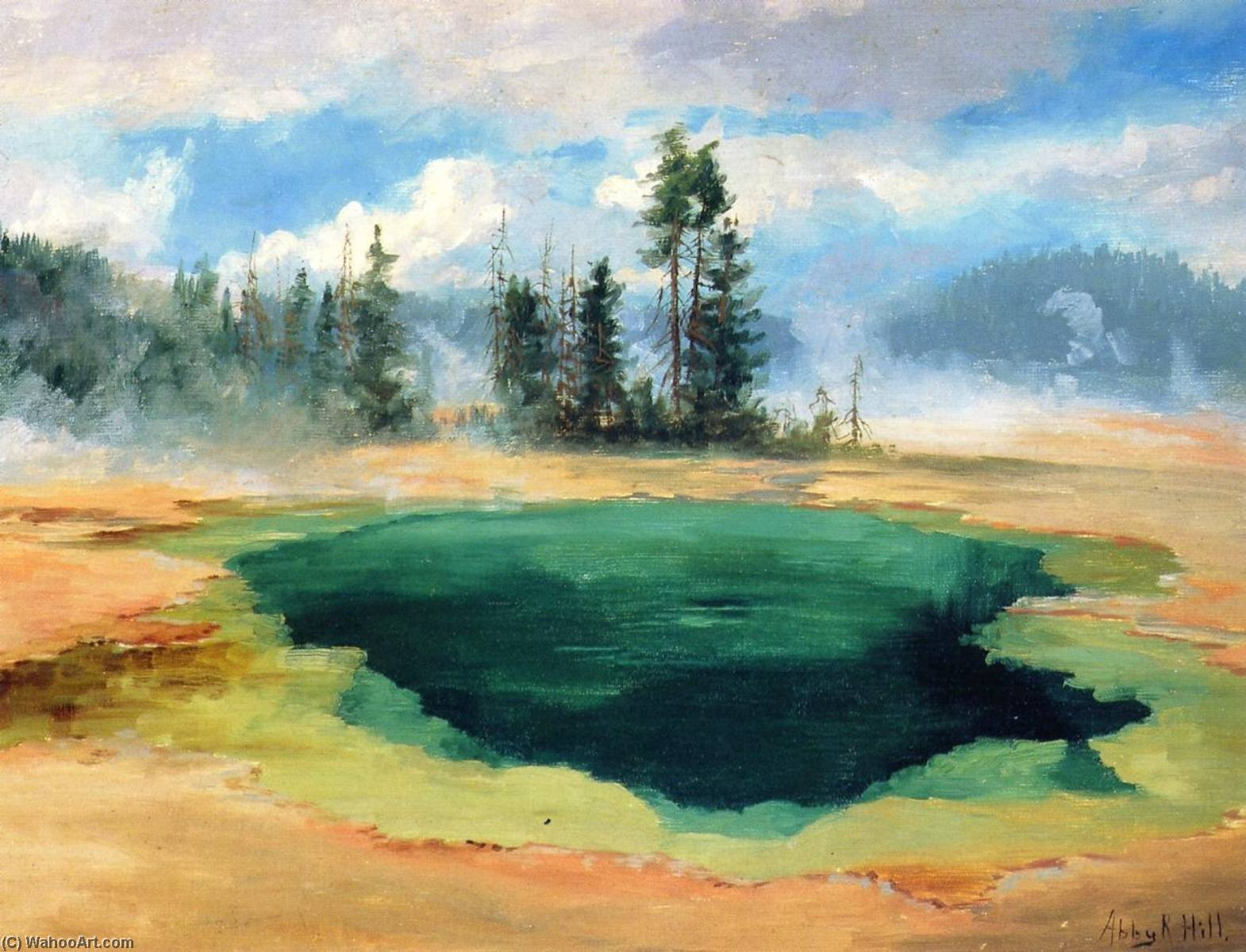 Emerald Pool, 1906 by Abbey Williams Hill (1861-1943, United States) | Museum Quality Reproductions | WahooArt.com