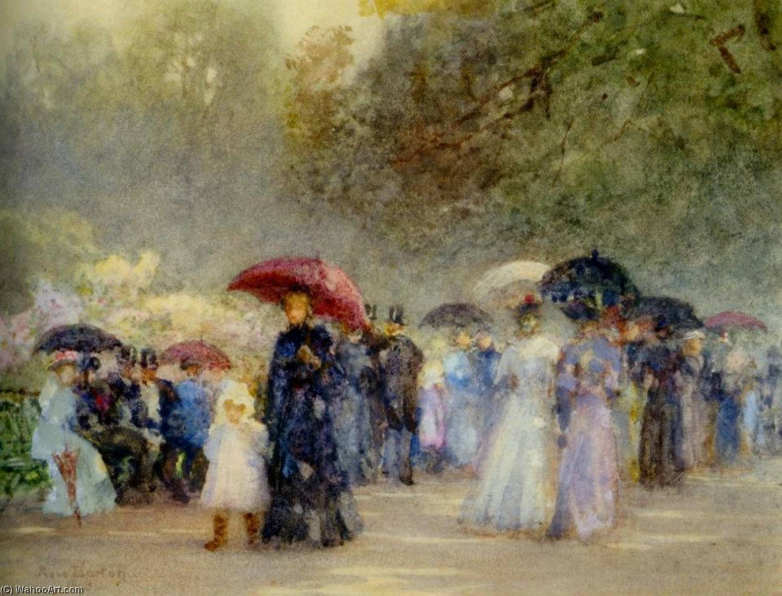 Hyde Park in May, 1893 by Rose Maynard Barton (1856-1930, Ireland)