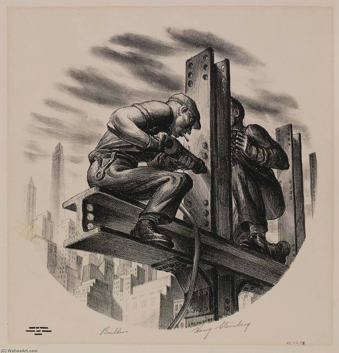 Builders by Harry Sternberg | Art Reproductions Harry Sternberg | WahooArt.com