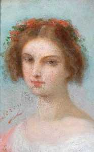 Pierre Joseph Dedreux Dorcy - Head of a Girl
