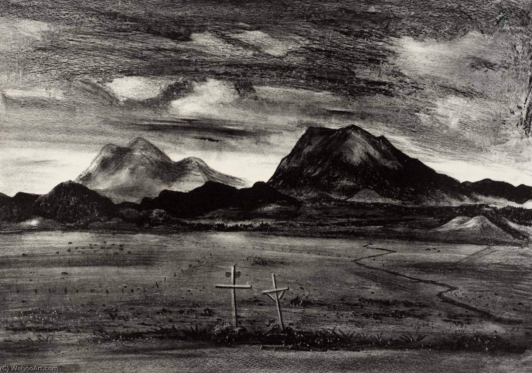 Desert Cemetery, 1939 by Arnold Blanch (1896-1968, United States) | Art Reproduction | WahooArt.com