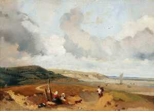 Richard Parkes Bonington - Sea Coast, the Dunes