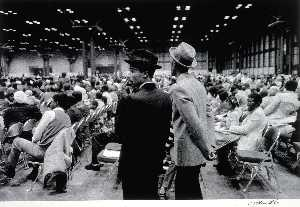 Jules Allen - Untitled (Jacob Javits Convention Center, NYC), from the series Hats and Hat Nots