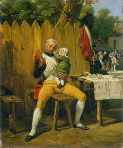 Emile Jean Horace Vernet - The Veteran at Home