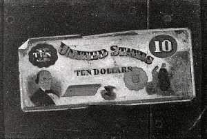 John Frederick Peto - Ten Dollar Bill, (painting)