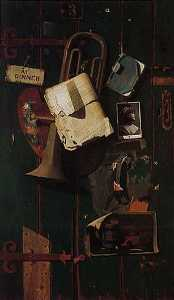 John Frederick Peto - Ordinary Objects in the Artist-s Creative Mind, (painting)