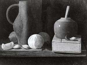 John Frederick Peto - Still Life with Almonds, (painting)