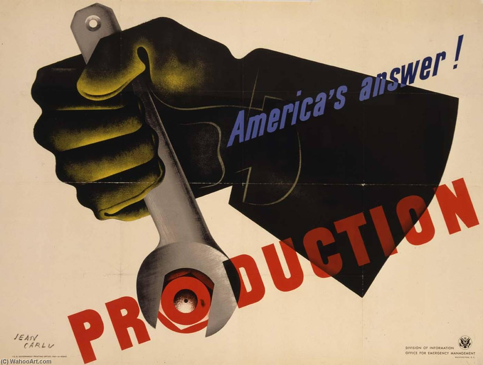 America's Answer Production, Paper by Jean Carlu (1900-1997)