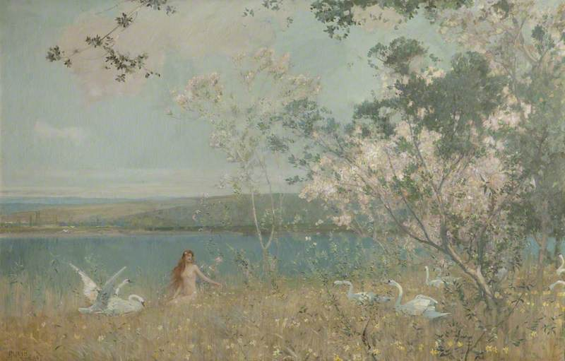 An Idyll of Spring, 1897 by Alfred East (1844-1913) | Painting Copy | WahooArt.com