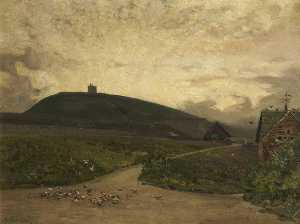 Alfred East - Rivington Pike from the Bungalow Grounds