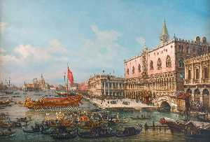 Francesco Zanin - The departure of the Bucintoro from San Marco to San Nicoló del Lido