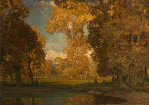 Alfred East - Autumn in the Valley of the Ouse, Sussex