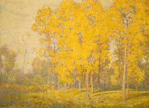 Alfred East - Landscape with Trees, Autumn