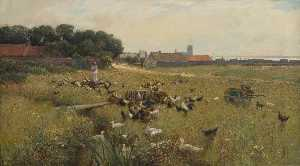 Alfred East - The Village Common