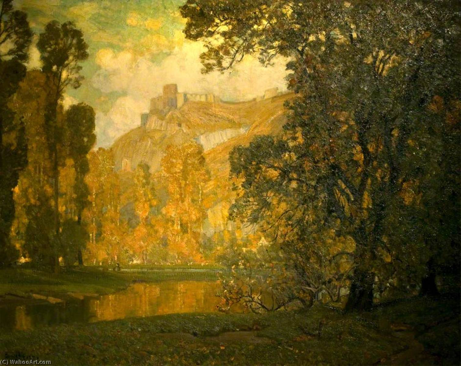 Autumn in the Valley of the Seine by Alfred East (1844-1913) | Art Reproduction | WahooArt.com
