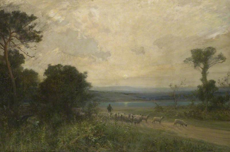 Early Summer Morning by Alfred East (1844-1913) | Painting Copy | WahooArt.com