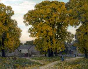 Alfred East - Autumn in Gloucestershire