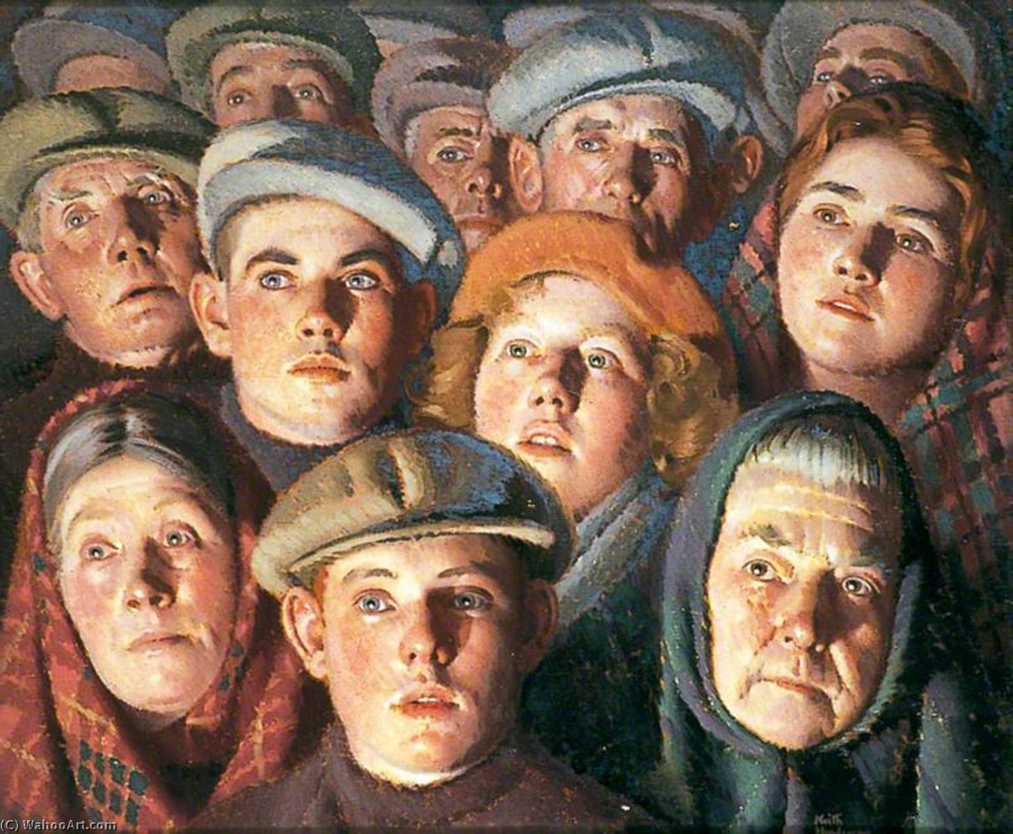 Harbour Crowd, 1930 by Keith Henderson (1883-1982) |  | WahooArt.com